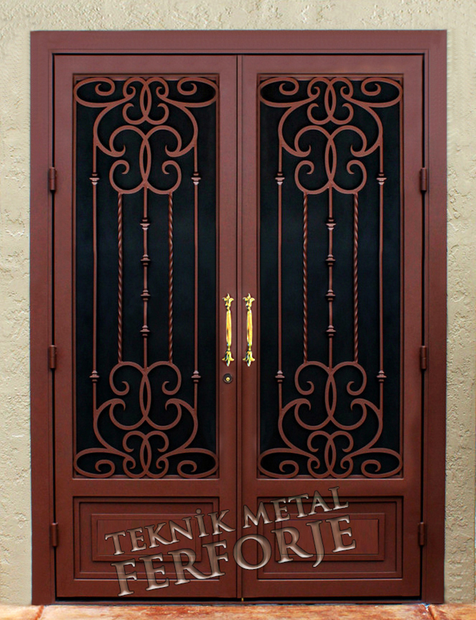 Laser-cut Wrought Iron Door Code:TBK-08