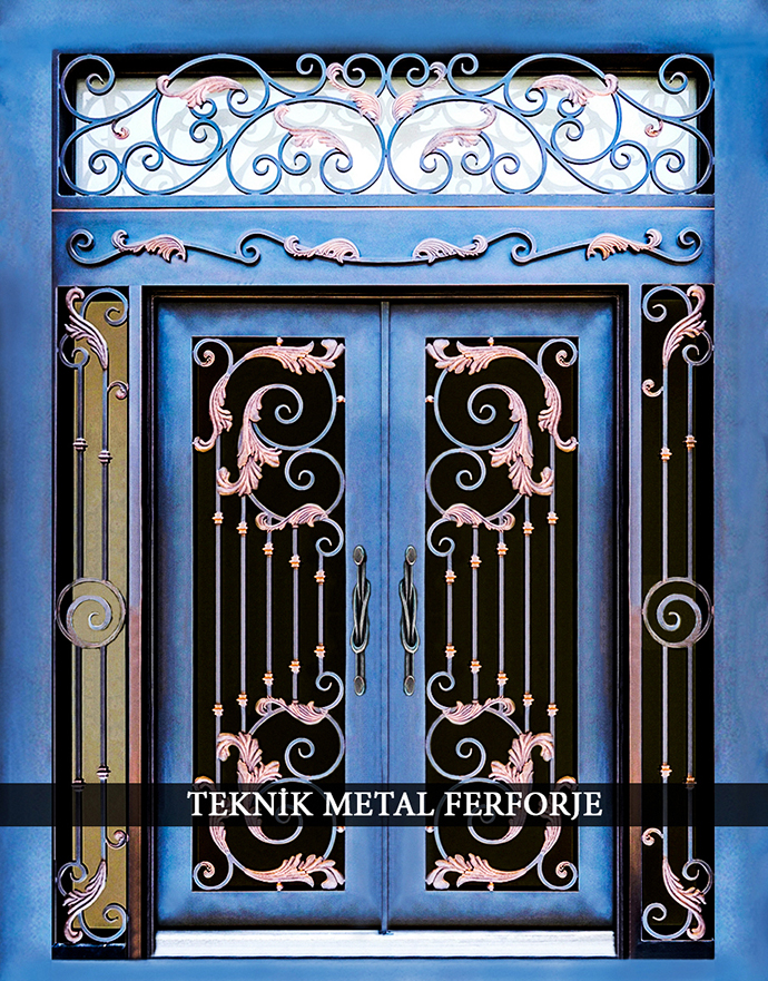 Laser-cut Wrought Iron Door Code:TBK-14