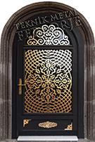 Laser-cut Wrought Iron Door Code:TBK-04