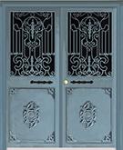 Laser-cut Wrought Iron Door Code:TBK-56
