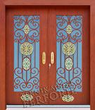 Laser-cut Wrought Iron Door Code:TBK-07