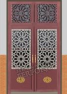 Laser-cut Wrought Iron Door Code:TBK-42