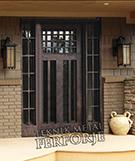 Laser-cut Wrought Iron Door Code:TBK-43