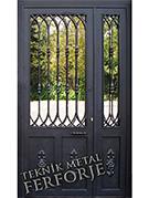 Laser-cut Wrought Iron Door Code:TBK-20