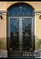 Laser-cut Wrought Iron Door Code:TBK-36