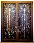 Laser-cut Wrought Iron Door Code:TBK-82