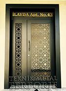 Laser-cut Wrought Iron Door Code:TBK-09