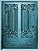 Laser-cut Wrought Iron Door Code:TBK-53