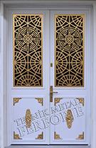 Laser-cut Wrought Iron Door Code:TBK-02
