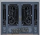 Laser-cut Wrought Iron Door Code:TBK-26