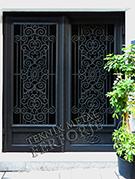 Laser-cut Wrought Iron Door Code:TBK-05