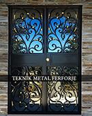 Laser-cut Wrought Iron Door Code:TBK-73