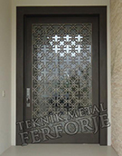 Laser-cut Wrought Iron Door Code:TBK-72