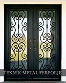 Laser-cut Wrought Iron Door Code:TBK-50