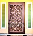 Laser-cut Wrought Iron Door Code:TBK-51