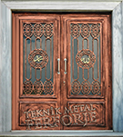 Laser-cut Wrought Iron Door Code:TBK-13