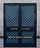 Laser-cut Wrought Iron Door Code:TBK-49