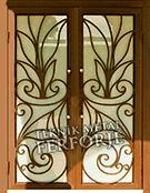 Laser-cut Wrought Iron Door Code:TBK-35