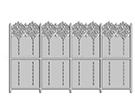 Wrought Iron Garden Fences Code: TDK-31