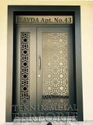 Laser-cut Wrought Iron Door Code:TBK-76