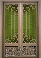 Laser-cut Wrought Iron Door Code:TBK-29