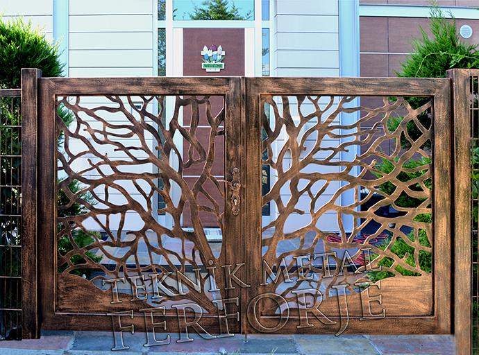 Ferforje bahçe kapilari ferforje bahçe kapısı 002