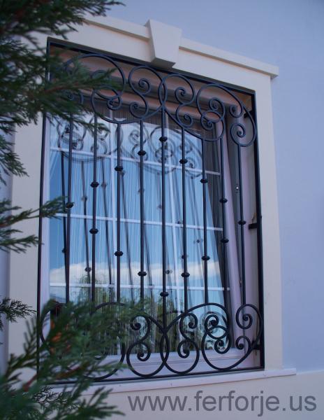 Ferforje Pencere Demiri Dovme Demir Teknik Metal Kod: TPD-08