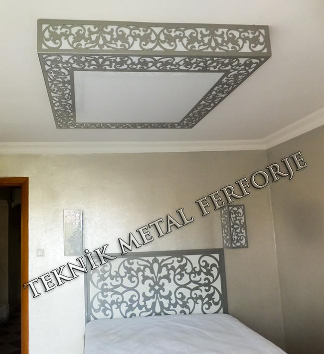 Dekoratif Tavan Duvar Apligi Yatak Basi kod: TTA-10
