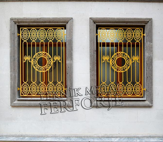 Lazer Kesim Altin Renk Cami Pencere Demiri Kod: TPD-38