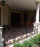 Ferforje balkon korkuluk modeli dovme demir kod: TBL-01