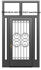 Ferforje bina kapisi Nazime Turkyilmaz tasarimi kod: TCZ-05