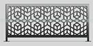 cnc kesim perfore Balkon Korkuluk modeli Sel�uklu desenleri kod: BL-36