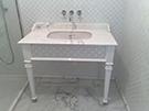 Banyo lavoba tezgah ferforje deseli kod: CNC-10