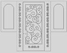 Ferforje bina kapisi Teknik Metal kod: TCZ-10