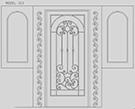 Perfore ve Ferforje bina kapisi cizim teknik ressam nazime kod: TCZ-11