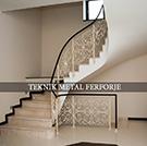 ferforje lazer kesim merdiven korkulugu beyaz boyali kod: TMD-14
