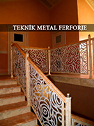 Lazer kesim ozel boyali merdiven korkuluklari kod: TMD-19