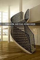 Lazer kesim modern merdiven korkulugu kod: TMD-24