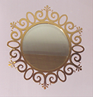 Teknik Metal Ferforje Ayna cercevelerinde yeniliklere devam ediyor altin kaplamali ferforje ayna 022
