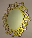 Altin Kaplama Ferforje ayna modeli Mirror gold Teknik Metal izinsiz kullanilamaz kod: TFM-21