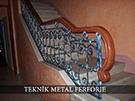Ferforje Merdivenler ozel boyali Teknik metal ferforje kod: TMD-32