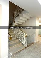 Lazer kesim motifli pirinc kupesteli beyaz merdiven korkulugu kod: TMD-22