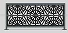 Lazer Kesim Perfore balkon korkuluk Modeli kod: TBL-38