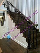 Ahsap kupesteli modern merdiven korkulugu kod: TMD-70