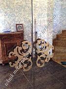lazer kesim dekoratif dolap kulpu kod: TCNC-46