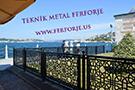 Demir lazer kesim Selcuklu modeli Kuskonmaz Camii balkon korkulugu kod: TBL-89