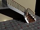 Ferforje merdiven korkuluk demiri Desing kod: TCZ-14