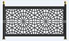 Lazer kesim geometrik korkuluk demiri kod: TBL-78