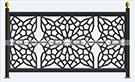 lazer kesim metal balkon demirleri kod: TBL-81