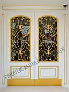 Ferforje Altın Sarısı Bina Villa Kapısı